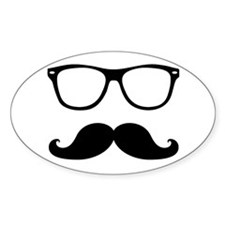 Hipster Mustache and Glasses Sticker