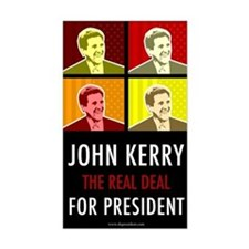 John Kerry for President Rectangle Decal