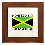 Montego Bay, Jamaica Flag Framed Tile