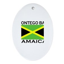 Montego Bay, Jamaica Flag Oval Ornament