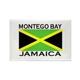 Montego Bay, Jamaica Flag Rectangle Magnet (10 pac