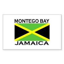 Montego Bay, Jamaica Flag Rectangle Decal