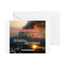 """Incompetence Kills"" Greeting Cards (10)"