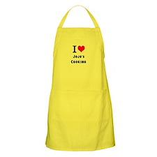 Personalised I Heart Love Custom Name's Cooking Ap
