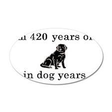 60 birthday dog years lab 2 Wall Decal