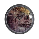 Cliff Dwelling Wall Clock