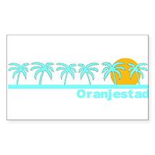 Oranjestad, Aruba Rectangle Decal