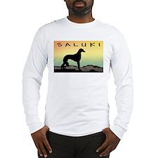 Saluki Dog Desert Long Sleeve T-Shirt