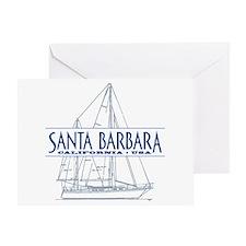 Santa Barbara - Greeting Card