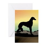 Saluki Dog Desert Greeting Cards (Pk of 10)