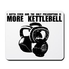 MORE KETTLEBELL BLACK Mousepad