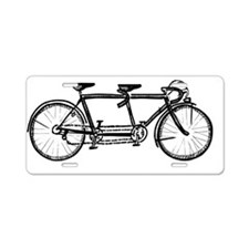 Tandem Bicycle Aluminum License Plate