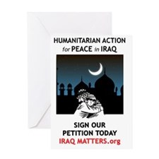 Peace in Iraq Greeting Card