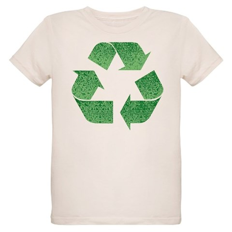 Leafy Green Recycle Symbol Organic Kids T-Shirt