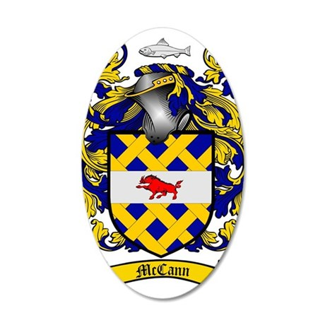 McCann Family Crest - coat o 35x21 Oval Wall Decal