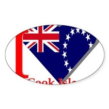 I love Cook Islands Oval Decal