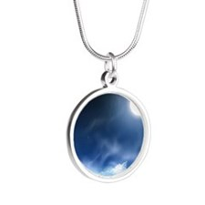 Night Sky Silver Round Necklace