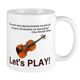Violin Fiddle Musician Banjo Mandolin Small Mugs