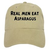 Men eat Asparagus Baseball Cap