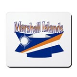 Marshall Islands flag ribbon Mousepad