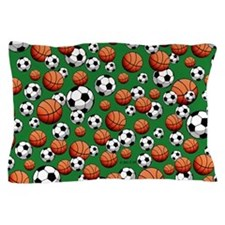 Soccer & Basketball Pillow Case