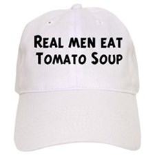 Men eat Tomato Soup Baseball Cap