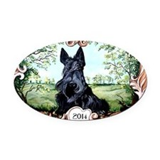 Scottish Terrier 2014 Oval Car Magnet