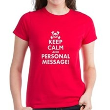 Personalized Keep Calm and Scuba Dive Tee
