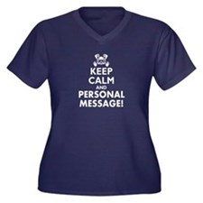 Personalized Keep Calm and Scuba Dive Women's Plus