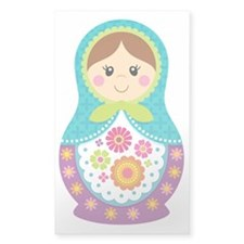 Matryoshka Girl, Blue Decal