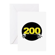 Bench Press 200 lbs Greeting Cards (Pk of 10)