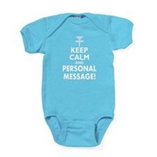 Personalized Keep Calm and Disc Golf Baby Bodysuit