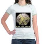 Wish For Peace Dandelion Jr. Ringer T-Shirt