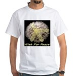 Wish For Peace Dandelion White T-Shirt