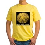 Wish For Peace Dandelion Yellow T-Shirt