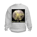 Wish For Peace Dandelion Kids Sweatshirt