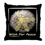 Wish For Peace Dandelion Throw Pillow