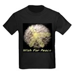 Wish For Peace Dandelion Kids Dark T-Shirt