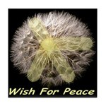 Wish For Peace Dandelion Tile Coaster