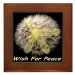 Wish For Peace Dandelion Framed Tile
