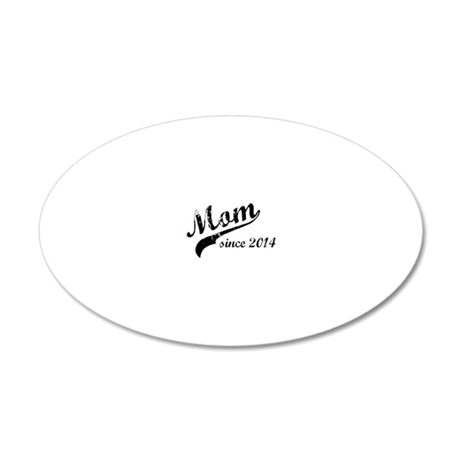 mom2014 20x12 Oval Wall Decal