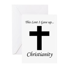 This Lent I Gave Up... Greeting Cards (Package of