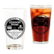 Bringin Home the Bacon Edison recor Drinking Glass