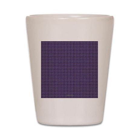 Houndstooth Purple Shot Glass