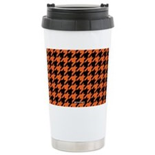 Houndstooth  Orange Travel Mug