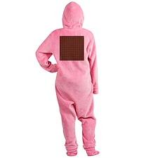 Houndstooth   Khaki Footed Pajamas