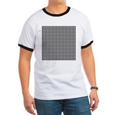 Houndstooth  White T