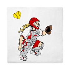 red2, I love my catcher Queen Duvet