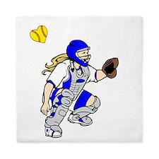 blue2, I love my catcher Queen Duvet