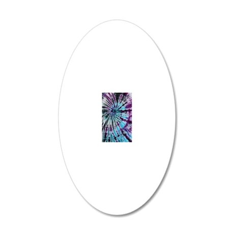Tie Dye Design 20x12 Oval Wall Decal